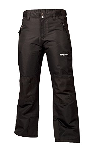 Arctix Kids Snow Youth Pants with Reinforced Knees and Seat, Black, Medium