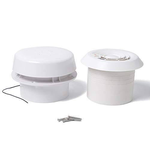 Ventilador de techo de ventilación de 12 V para remolques de autocaravana, 60 CFM, potente silencioso, montaje en pared y techo ABS, ventilador extractor de ventilación de techo (blanco)