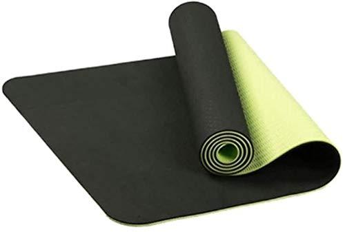 LUCKY Colchoneta de ejercicio antideslizante TPE Yoga colchonetas de gimnasia ejercicio del deporte Sala de estar de ratón for la aptitud del edificio de cuerpo con la posición de la línea de Yoga, Pi