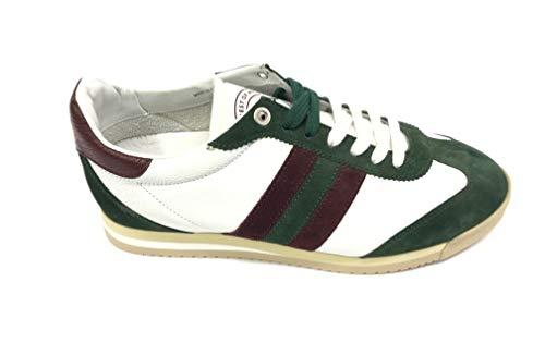 DNA Chimera U200 Sneaker Comoda in Pelle e Tessuto (39 EU, Bianco-Verde)