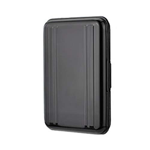 Tarjeta de memoria Caja de almacenamiento de la tarjeta de memoria de aluminio portátil de 110 * 20 * 75mm Caja de la tarjeta de memoria impermeable con 8 ranuras Titular de la tarjeta Organizador lig