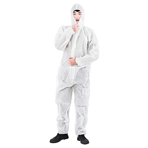 Zarupeng beschermende kleding voor eenmalig gebruik, antistof-isolatiekleding, non-woven anti-epidemie uniformen werkkleding Siamesisch beschermende pak, niet poreus, antistatisch.