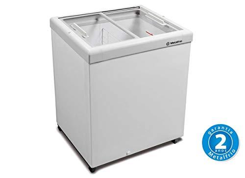 Freezer Horizontal Tampa de Vidro 189l HF20S - Metalfrio - 220v
