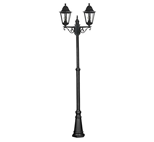 Victorian Outdoor Garden Patio Path Lighting Post Lamp Lights IP44 2m - 2.5m - Double