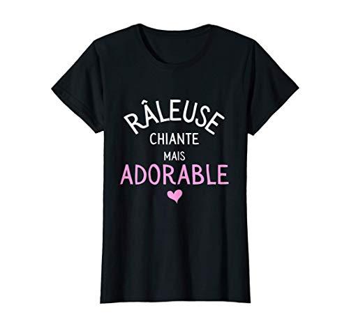 Femme Râleuse Adorable Drole Humour Soeur Cousine Collègue T-Shirt