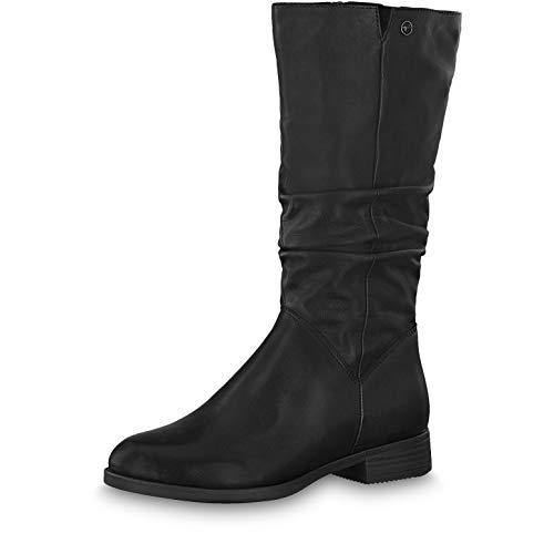 Tamaris Damen Stiefeletten 25345-23, Frauen Stiefel, feminin elegant Women's Woman Freizeit leger Boots lederstiefel Damen Lady,Black,38 EU / 5 UK