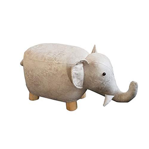 Voetensteun en kruk voor dieren, woonkamer, 4 poten van massief hout, sofa, kruk voor kinderen, modern frame van massief hout, cartoon zittend, H11.02 in Wit