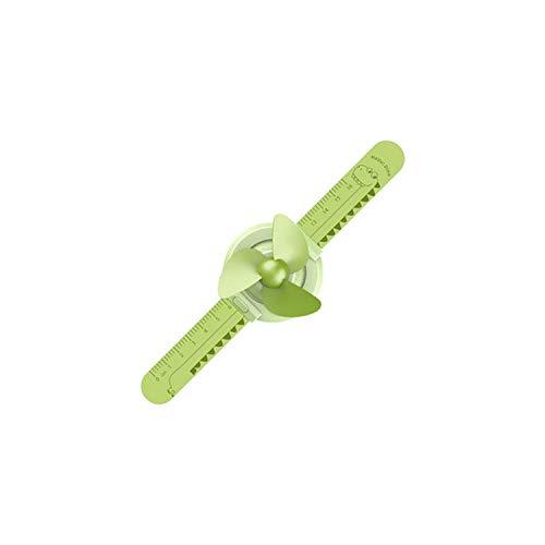 El Ventilador Alimentado por USB  Multifunción Regla de Dibujos Animados Reloj USB Ventilador Ajustable Muñeca portátil Mini Ventilador USB Gadgets Estudiante Niños Lindo Pequeño Ventilador-Verde-