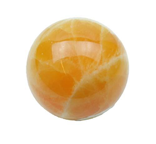 Esfera calcita naranja con soporte acrílico I piedra curativa I Piedra preciosa I 320 g I Ø 6 cm I México