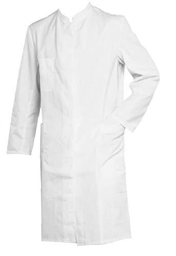 Grevotex Arztmantel Arztkittel Labormantel Laborkittel Stehkragen Satin