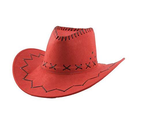Carnavalife Sombrero Cowboy de Vaquero Toy Story Western Disfraz para Adulto y Niños YJ-24 (Rojo, Niños/54cm)