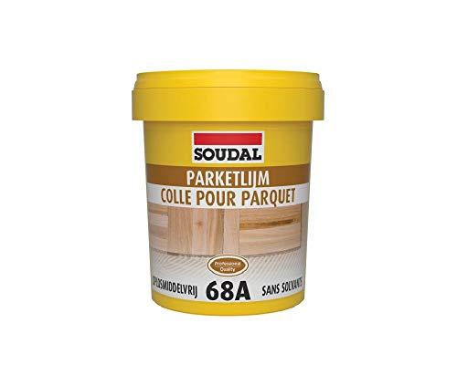 Soudal 68A Colla per parquet, senza solventi, in barattolo da 1 kg, di colore marrone chiaro (etichetta in lingua italiana non garantita)