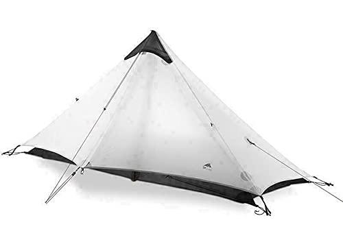 Tente ultralégère pour 1 Personnes Faisant du Camping Sauvage à Travers Un abri de randonnée en Plein air (1 Person, Gray)