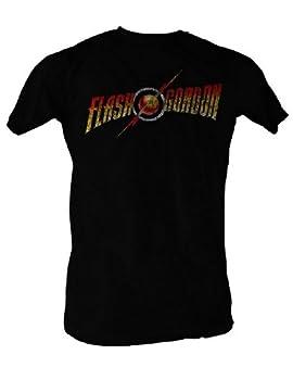 2Bhip Flash Gordon Comics Flash Gordon Logo Adult Short Sleeve T Shirt XXXT Black