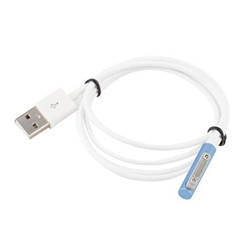 Mini cable de carga USB Cable de carga magnético Indicador LED Cable de carga para Xperia Z3 L55t Z2 Z1 Compact XL39h - 1m-azul