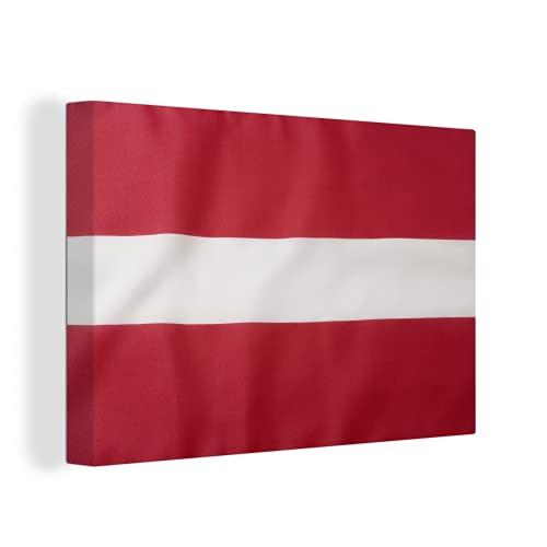 Leinwandbild - Die Flagge von Lettland - 140x90 cm