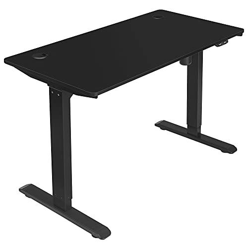 SONGMICS Elektrischer Schreibtisch, höhenverstellbar, Schreibtischständer, Tischgestell mit Motor, 120 x 60 x (73-114) cm, Stahl, schwarz LSD011B02