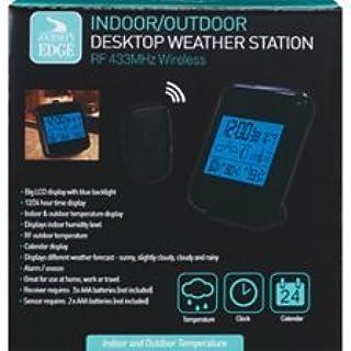JOURNEY`S EDGE Indoor/Outdoor Desktop Weather Station RF 433MHz Wireless