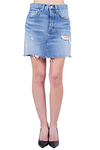 Levi's HR Decon Iconic BF Skirt Falda, Azul (High Plains 0011), Talla Única (Talla del Fabricante: 30) para Mujer