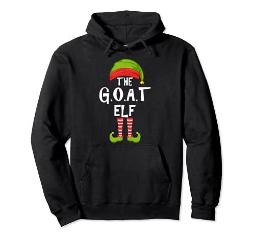 G.O.A.T. Grupo de pijamas para la fiesta familiar de Navidad Sudadera con Capucha