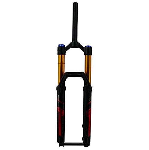 ZSR-haohai MTB Bike Fork Mountain Bicycle Suspension Forks 27.5'29 Pulgadas ER 1-1/8' 1-1/2'39.8air Resilience Thru Eje15 * 110 Damening Centrum (Color : 27.5 Red 39.8mm)