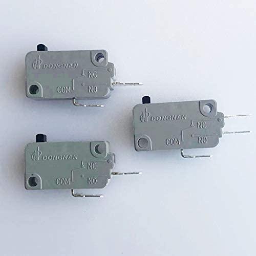 Kw3a Interruptor de puerta de horno de microondas 16a 125/250 V Interloc de puerta (2 piezas normalmente abiertas y 1 pieza de 3 pies de inserción)