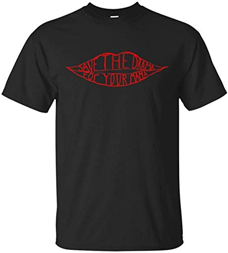 UT-TP Genérico Save The Drama for Your Mama Mujer Red Lips Camiseta