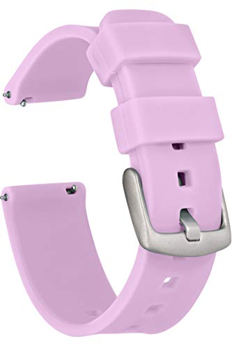 GadgetWraps 20mm Gizmo Watch Silicone Watch Band Strap with Quick Release Pins – Compatible with Gizmo Watch, Samsung, Pebble – 20mm Quick Release Watch Band (Purple Glow, 20mm)