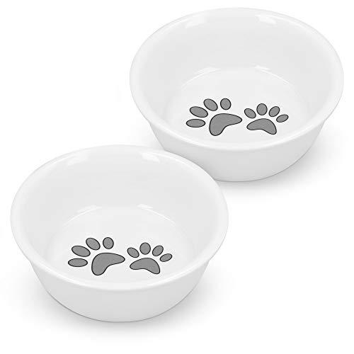 Navaris Futternapf Set für Katzen und kleine Hunde - 2er Keramik Fressnapf Hundenapf Katzennapf - Futterstation Futterbar - spülmaschinenfest