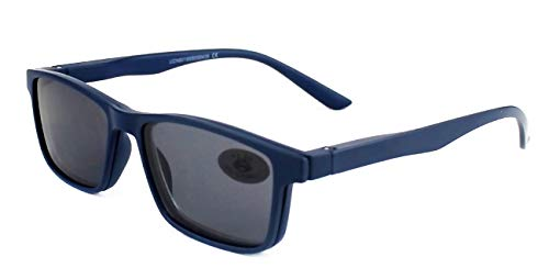 Gafas Sol Presbicia, Gafas de Lectura Polarizadas con Imán Clip para Sol, Gafas de Presbicia Vista Cansada Presbicia (+350, Azul)