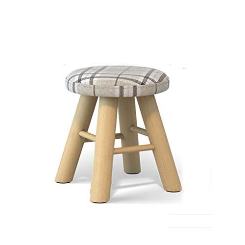JIAX Opbergkruk van massief hout, modieus, voor schoenen, krukken, voetenbankje, vierkant, 6 kleuren