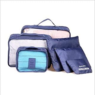 6Pcs Travel Outdoor Storage Bags Waterproof ravel Clothing Bags Packing Cube Luggage Storage Case Home Storage Organizer (...