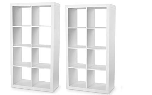 Better Homes and Gardens 8-Cube Organizer - White, Set of 2