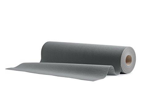 1 Airlaid Tischläufer 40 cm x 24 m Rolle mit Perforation für einfaches Kürzen, 20x Einweg Tischdecke pro Rolle, Tischband, Stoffähnlich Hochzeit Catering Hotel Premium QUALITÄT | Grau