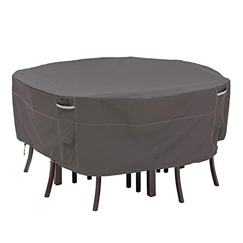 Classic Accessories 55-158-045101-00 Ravenna Housse Ronde pour Table de terrasse et chaises Taille L