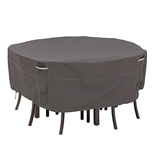 Classic Accessories Ravenna Waterproof Round Patio Table & Chair Set Cover, Outdoor Dining General...