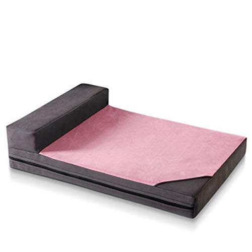 Hond Bed Crate Mat Hond Matrasbed Huisdier Bedden Kussen Zacht Niet Slip Huisdier Rits Matras, Vier Seizoenen Beschikbaar, Verwijderbare Cover Wasbaar Gemakkelijk te reinigen XL roze