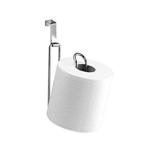InterDesign - Metalo - Reserva para Rollo de Papel higiénico para Colocar sobre el Tanque de Descarga - Cromado