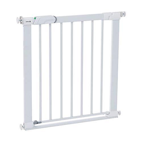Safety 1st Flat Step Treppenschutzgitter, kein Stolpern mehr dank ultraflacher Stufe/Schwelle, Türschutzgitter ideal für Kinder und Haustiere, 73 - 80 cm, weiß