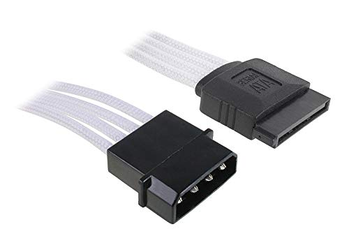 BitFenix Adapter (Molex zu SATA), 45 cm weiß/schwarz