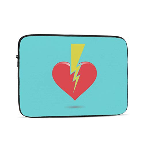 MacBook Pro Case 2018 Broken Sad Red Love Heart Shape A1708 MacBook Pro Case Multi-Color & Size Choices10/12/13/15/17 Inch Computer Tablet Briefcase Carrying Bag