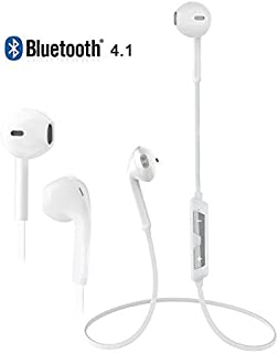 JX2 Best Quality Wireless Bluetooth Headphones/Headset/4.1 Version in-Ear/Sweat & Water Resistant Earphones with Hands-Free MIC Support with all Bluetooth Smartphone (WHITE)