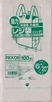 【お買得】ジャパックス 業務用レジ袋 【東日本6号 西日本20号】半透明 0.012mm 8000枚 100枚×80冊入 ポリ袋 RKK06