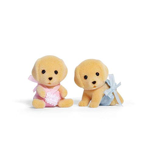Calico Critters Yellow Lab Family Set with Additional Yellow Lab Baby Twins