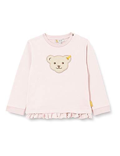 Steiff Baby-Mädchen mit süßer Teddybärapplikation Sweatshirt, Rosa (Barely Pink 2560), 062