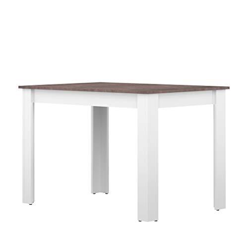 TemaHome Clark B2 Tavolo, Truciolare, Bianco (Cemento), 73.4 x 110 x 70 cm