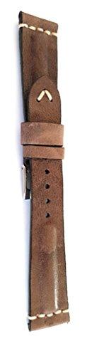Cinturino Vintage in Vero Montone. 18mm 20mm 22mm Made in Italy (22-18,...