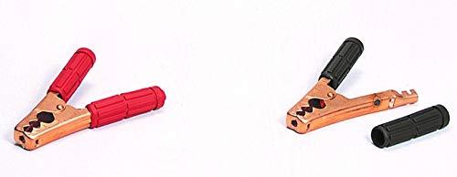 清和工業 日本製 絶縁カバー付きワニ口クリップ50A用赤・黒セット BSCC-50 +-セット〈SEIWA セイワ〉