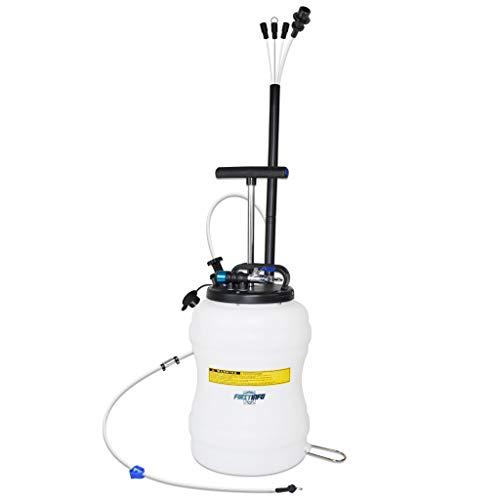 FIRSTINFO A1107EUY2 | 10,5Litros | Cambiador de Aceite de Bomba de vacío | Bomba Extractora De Aceite Y Líquidos | Bomba de Transferencia de líquido | con Manguera de líquido de Frenos de 6,5 pies