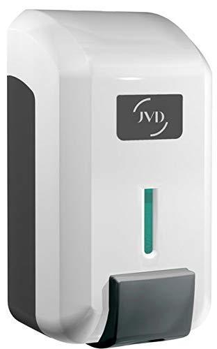 JVD - Distributeur de Savon Liquide ou Gel Hydroalcoolique, Blanc, Contenance 700ml Réservoir à Remplir